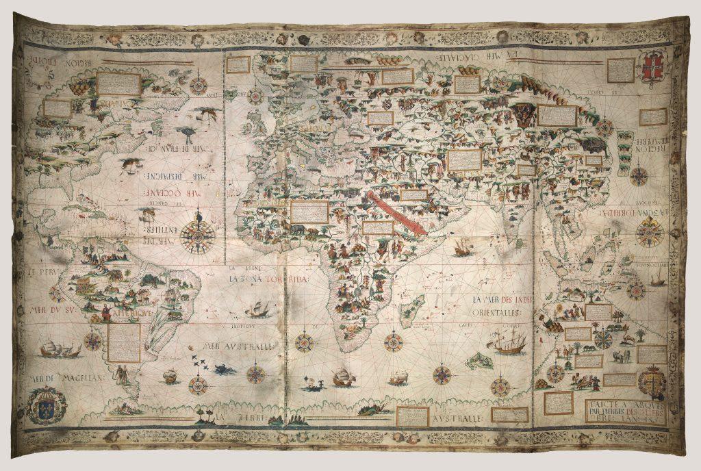 wereldkaart 1550 desceliers